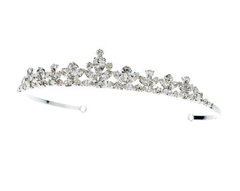 Princess Tiara Headpiece with Rhinestone Accents