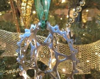 Bike gears Christmas ornament