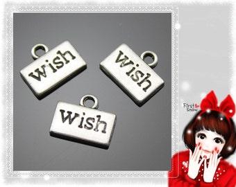 50pcs 13*11mm wish charms B10165