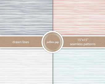 Stripes Seamless Digital Paper - Scrapbooking, Backgrounds