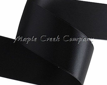 "5 yards of Black Double Face Satin Ribbon,  1-1/2"" x 5 yards"