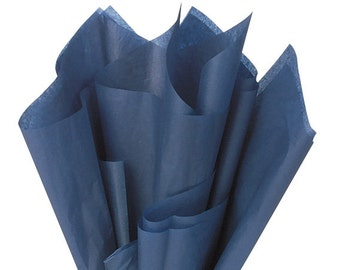 NAVY BLUE Tissue Paper 24 Sheets Premium Tissue Paper for Craft Projects, Gift Wrapping, and DIY