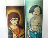 Saint Daria & Jane Prayer Candle Set // Funny Gift Idea // sick sad world