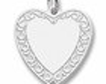 Sterling Silver Filigree Heart Charm by Rembrandt
