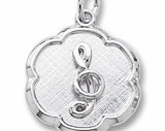 Sterling Silver Treble Clef Charm by Rembrandt