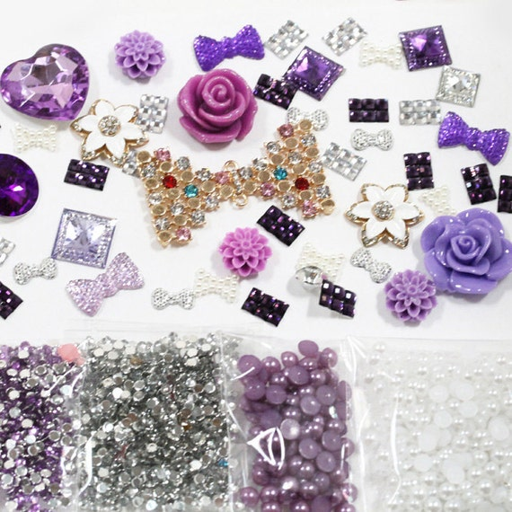 Y17 DIY 3D Bling Cell Phone Case Deco Kit: by DIYJewelryDepot