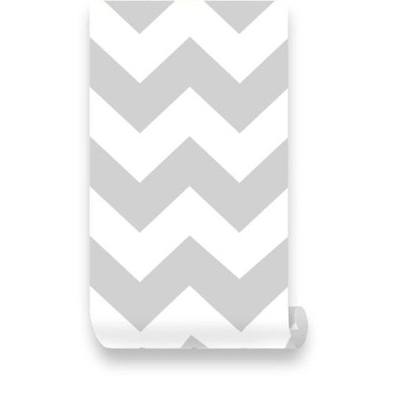 Items Similar To Chevron Grey White Removable Wallpaper