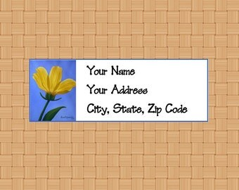 Address Labels Personalized Labels Return Labels Flower Labels Coreopsis Flower