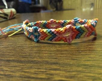 broken arrow woven friendship bracelet