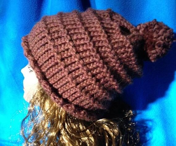 Garter Ridged Hat - a loom knit pattern