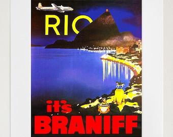 Art Rio De Janeiro Brazil Travel Print Vintage Poster (TR161)