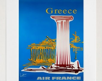 Greece Art Print Travel Greek Home Decor Poster (XR117)