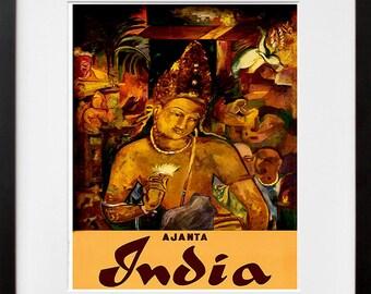 India Travel Poster Indian Art Print Home Decor (ZT389)