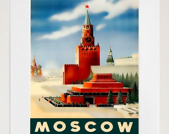 Russian Art Travel Poster Russia Print Home Decor (ZT361)