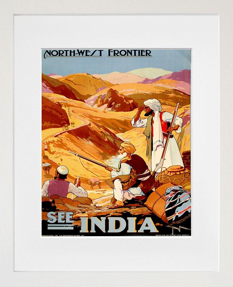 India Travel Art Print Vintage Indian Home Decor Poster