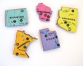 BACK IN STOCK! Magnet Vintage State Puzzle Piece, State Magnet