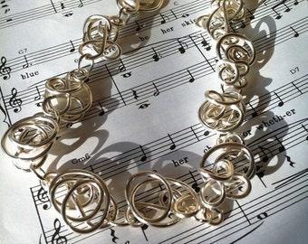 Silver Wire Freeform Necklace