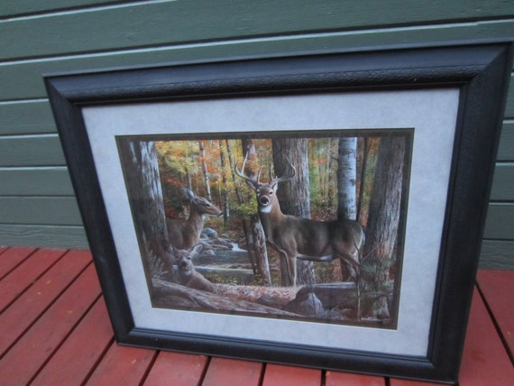 home interior deer pictures home interiors deer picture framed amp matted doe buck deer 18244