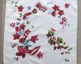 Colette Signed Handkerchief Hanky Falling Leaves Vintage