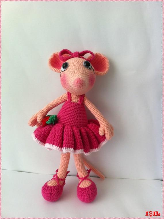 angelina ballerina-Amigrumi Crochet Pattern