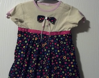 Toddler's Throw Back Onsie/ Dress for Toddlers sizes 6-12 months by Mvious Da'Zigns