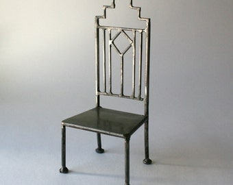 Handcraft Pewter High Back Chair