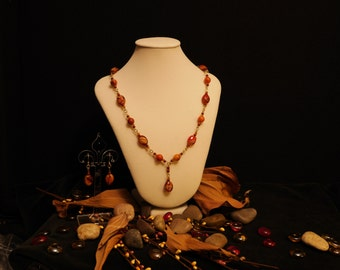 Canyon Mist - handcrafted necklace and earring Set