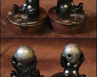"Statuette steampunk ""Mr Tiboudou"""