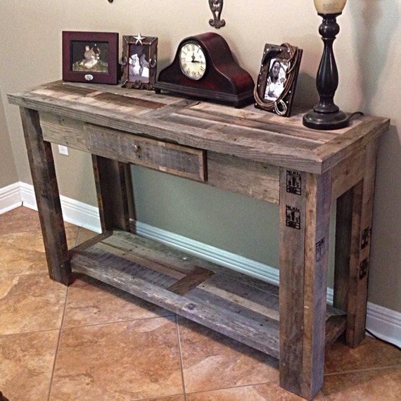 Rustic Sofa Table By BoondockRustics On Etsy
