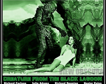 Creature! Every man his mortal enemy and a woman's beauty his prey! -  Creature from the Black Lagoon  - Numbered Poster Print