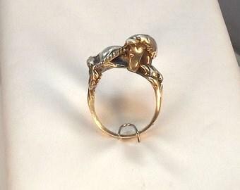 Sterling Unicorn Ring