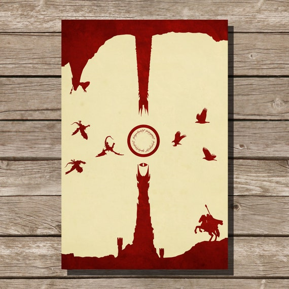 Lord Of The Rings Movie Poster The Two Towers Art Print Lotr