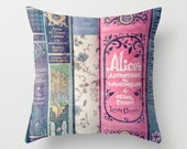 A Perfect Library - Books, Decor, Bedding, Nursery, Girl's Room, Jane Austen, Alice in Wonderland, Fairy Tales, Mint, Aqua, Pink