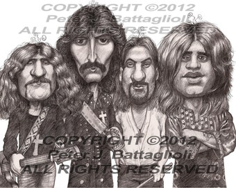 Black Sabbath Ozzy Osbourne Poster Caricature Art Print Limited Edition