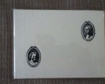 George and Martha Washington Letterpress-Printed Panel Notecards with Envelopes