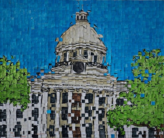"Alabama Capitol - Montgomery Alabama -Architectural Art - Original Painting 20""x20"""