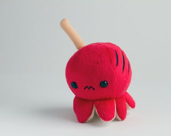 Meet Red! Grilled Night Market Festival Octopus On a Stick Keychain / Plush [Red]