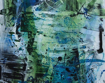 Abstract Acrylic || Birch Trees || Free Shipping
