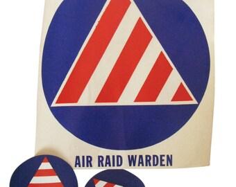 Air Raid window decals