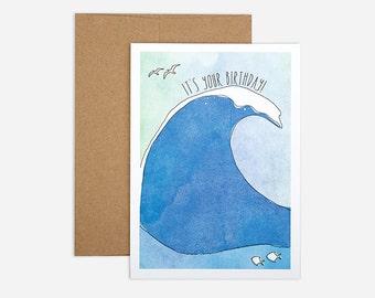 Swell Birthday Greeting Card