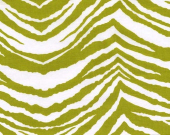 Green zebra animal print, quilting cotton fabric by the yard by Paula Prass for Michael Miller Fabrics. Need more fabric yardage? Just ask