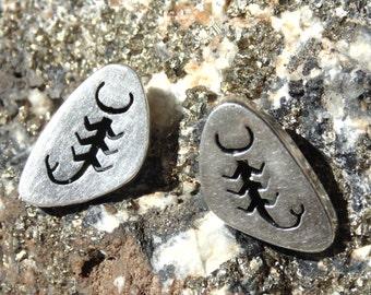Los Castillo Sterling Silver Scorpio Earrings for Pierced Ears