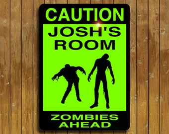 Personalized Zombie sign