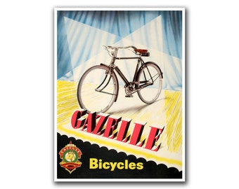 Bicycle Art Cycling Poster Bike Vintage Print (H10)