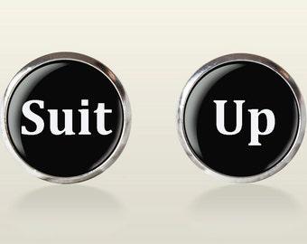 Suit Up Cuff Links - men cuff links, wedding cufflinks, groom, groomsmen,vintage, vintage style