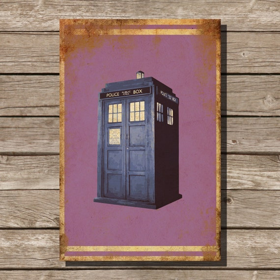 Doctor Who Movie Art Minimalist Poster Geekery Home Decor Wall