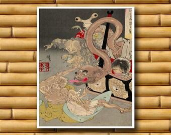 Japanese Martial Arts Poster Asian Decor Japan Art Print (J63)