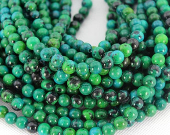 8mm Green Phoenix Beads,Full Strand,Phoenix  Beads,Round Phoenix Beads,Phoenix Stone,Gemstone Beads---about 50 Pieces---15.8inches--BH001
