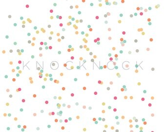 Confetti Digital Paper - 100% opacity - Scrapbooking