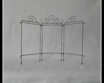 5 Curl Tri-Table Stand ~ Gray 22 x 12 Inch Overall ~ Made in the USA